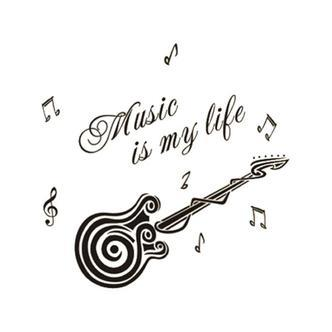 Guitar wallsticker. Music is my life.