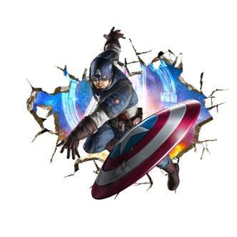 Captain America wallsticker. 70x50cm