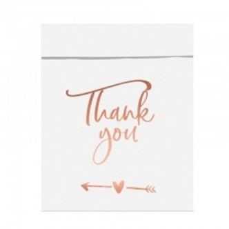 Gaveposer Thank you, rose gold, 6 stk