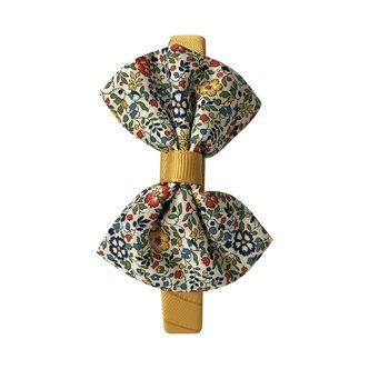 Milledeux® Large Liberty bowtie bow - hairband - Liberty Katie & Millie A / dijon