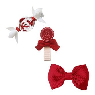 Milledeux® Candy Collection gift set - Bonbon, Lollipop and Bow - scarlet