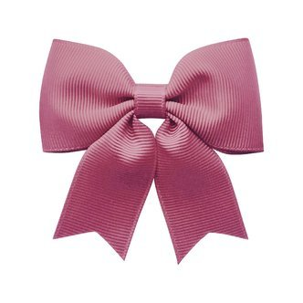 Medium bowtie bow w/ tails - alligator clip - Victorian rose