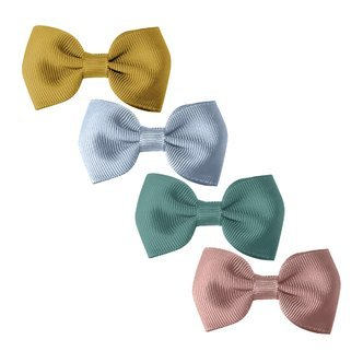 Milledeux® Gift set - 4 Small bowtie bows - alligator clip - dijon/blue/mauve