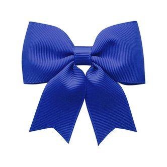 Medium bowtie bow w/ tails - alligator clip - Cobalt