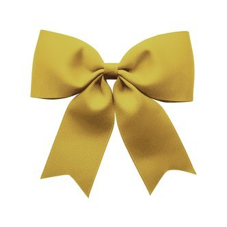 X-Large bowtie bow w/ tails - alligator clip - dijon