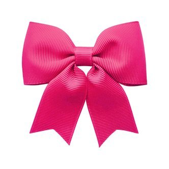 Medium bowtie bow w/ tails - alligator clip - azalea