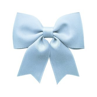 Medium bowtie bow w/ tails - alligator clip - bluebell