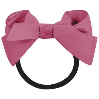 Medium boutique bow - elastic band - victorian rose