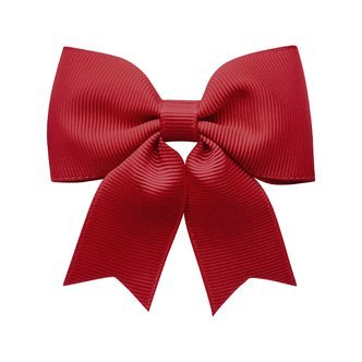 Medium bowtie bow w/ tails - alligator clip - scarlet