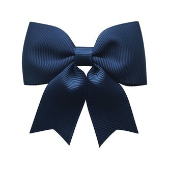Medium bowtie bow w/ tails - alligator clip - navy