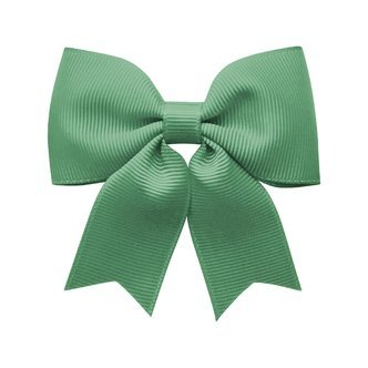 Medium bowtie bow w/ tails - alligator clip - celadon