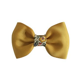Milledeux® small bowtie w. Liberty middle - alligator clip - Liberty Katie & Millie A / dijon