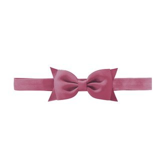 Milledeux Double Bowtie bow - elastic hairband - victorian rose