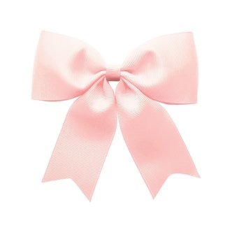 X-Large bowtie bow w/ tails - alligator clip - Powder Pink