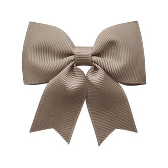 Medium bowtie bow w/ tails - alligator clip - chocolate chip