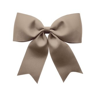 X-Large bowtie bow w/ tails - alligator clip - chocolate chip