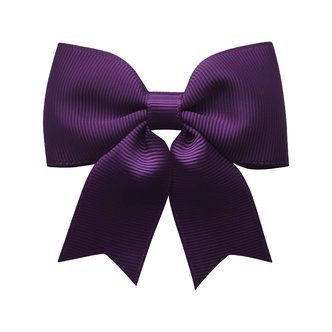 Medium bowtie bow w/ tails - alligator clip - plum