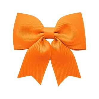 Medium bowtie bow w/ tails - alligator clip - tangerine