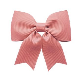 Medium bowtie bow w/ tails - alligator clip - dusty rose