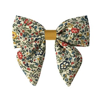 Milledeux® Medium Liberty bowtie w. grosgrain middle and tails - alligator clip - Liberty Katie & Millie A / dijon
