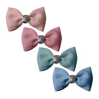 Milledeux® Gift set - 4 Small bowtie bows - alligator clip - Glitter various