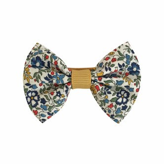 Milledeux® small Liberty bowtie w. grosgrain middle - alligator clip - Liberty Katie & Millie A / dijon