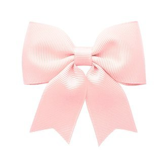 Medium bowtie bow w/ tails - alligator clip - Powder Pink