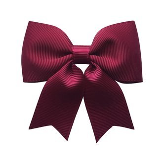 Medium bowtie bow w/ tails - alligator clip - wine