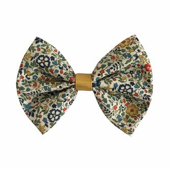Milledeux® large Liberty bowtie w. grosgrain middle - alligator clip - Liberty Katie & Millie A / dijon