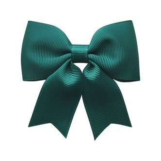 Medium bowtie bow w/ tails - alligator clip - teal