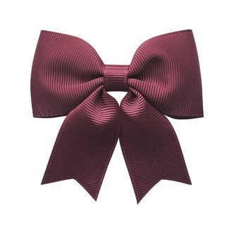Medium bowtie bow w/ tails - alligator clip - burgundy