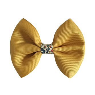 Milledeux® large bowtie w. Liberty middle - alligator clip - Liberty Katie & Millie A / dijon