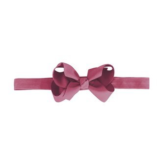 Medium boutique bow - elastic hairband - victorian rose