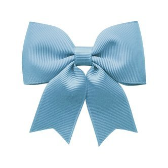 Medium bowtie bow w/ tails - alligator clip - French Blue