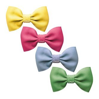 Milledeux®  Gift set - 4 Small bowtie bows - alligator clip - Colored Glitter