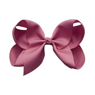 Jumbo Boutique Bow - alligator clip - Victorian Rose