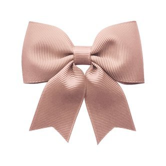 Medium bowtie bow w/ tails - alligator clip - antique mauve