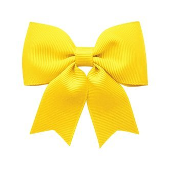Medium bowtie bow w/ tails - alligator clip - daffodil