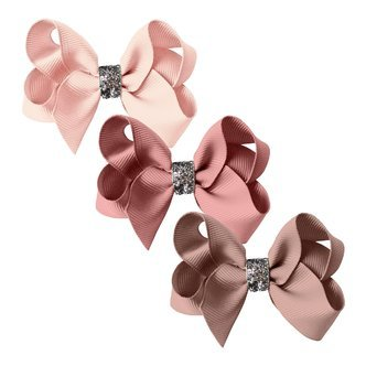 Milledeux® gift set - Glitter Collection - 3 Medium boutique bows - pinks