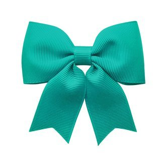 Medium bowtie bow w/ tails - alligator clip - Jade