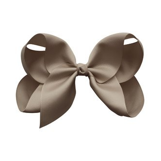 Jumbo Boutique Bow - alligator clip - chocolate chip