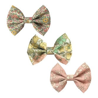 Milledeux® Gift set - 3 Liberty fabric bowtie bows - alligator clip - pinks