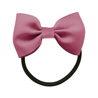 Small bowtie bow - elastic band - victorian rose