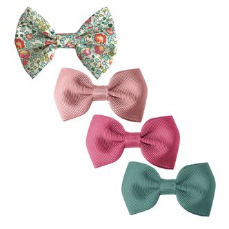 Milledeux® Gift set - Liberty fabric bow and 3 grosgrain bows - alligator clip
